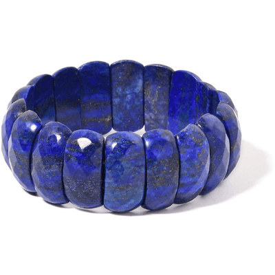 Lapis Lazuli Checkerboard Faceted Stretch Bracelet 400.00ctw. Gemstone Collectors U.S.