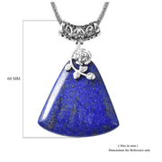Lapis Lazuli Pendant in Surgical Grade Stainless Steel Gemstone Collectors US