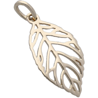 Leaf Pendant in 10K Yellow Gold Gemstone Collectors U.S.