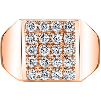 Men's Diamond Ring in 14K Rose Gold Gemstone Collectors U.S.