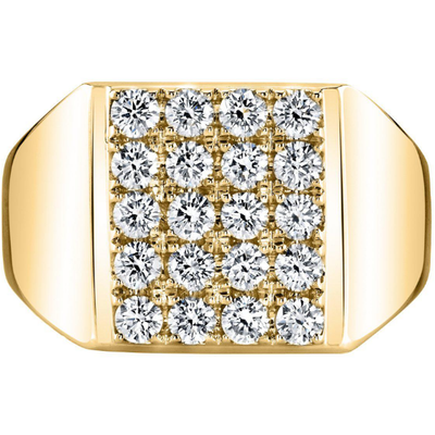 Men's Diamond Ring in 14K Yellow Gold Gemstone Collectors U.S.