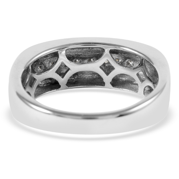 Men's Diamond Wedding Band in 10K White Gold Gemstone Collectors U.S.