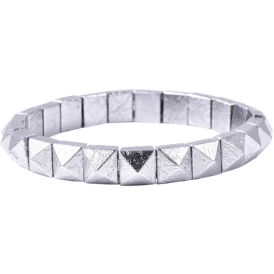 Meteorite Pyramid Stretch Bracelet 256ctw Gemstone Collectors U.S.