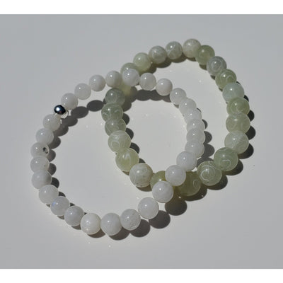 Moonstone and Serpentine Bracelet Set Mindful Creations by Gloria