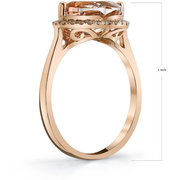 Morganite & Diamond Lip Ring in 14K Rose Gold Gemstone Collectors U.S.