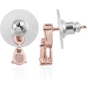 Morganite & Zircon Drop Earrings in Rose Gold over Sterling Silver Gemstone Collectors U.S.