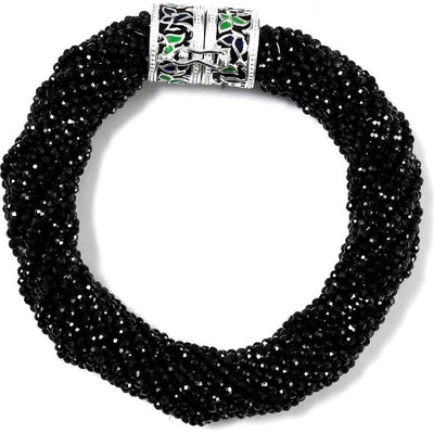 Natural Black Spinel Multi Strand Beaded Bracelet in Platinum over Sterling Silver Gemstone Collectors U.S.