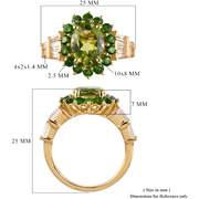 Peridot & Multi Gemstone Ring in Yellow Gold over Sterling Silver Gemstone Collectors U.S.