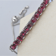 Rhodolite Garnet Adjustable Bolo Bracelet in Platinum over Sterling Silver Gemstone Collectors U.S.