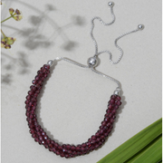 Rhodolite Garnet Bolo Bracelet in Platinum over Sterling Silver Gemstone Collectors U.S.