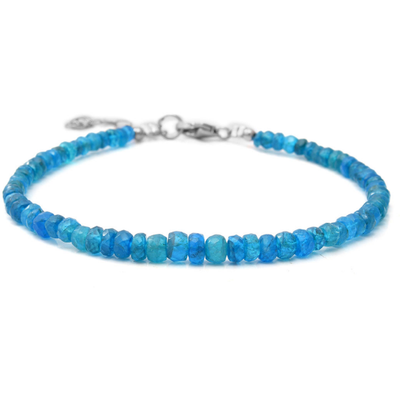 Rhondelle Neon Apatite Beaded Bracelet in Platinum over Sterling Silver Gemstone Collectors U.S.