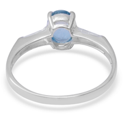 Sky Blue Topaz & White Topaz Ring in Sterling Silver Gemstone Collectors U.S.