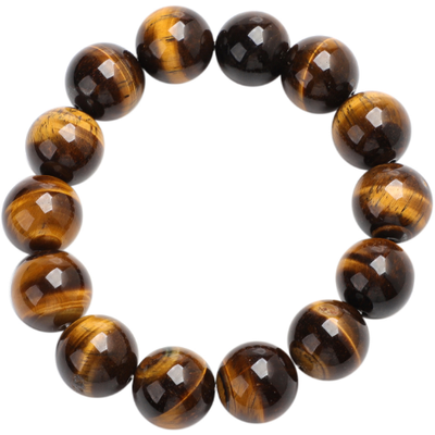 South African Tigers Eye Beaded Stretch Bracelet Gemstone Collectors U.S.