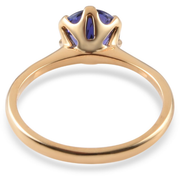 Tanzanite Round Solitaire Ring in 18K Yellow Gold Gemstone Collectors U.S.