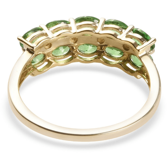 Tsavorite Garnet & Diamond Accent Ring in 10K Yellow Gold Gemstone Collectors U.S.