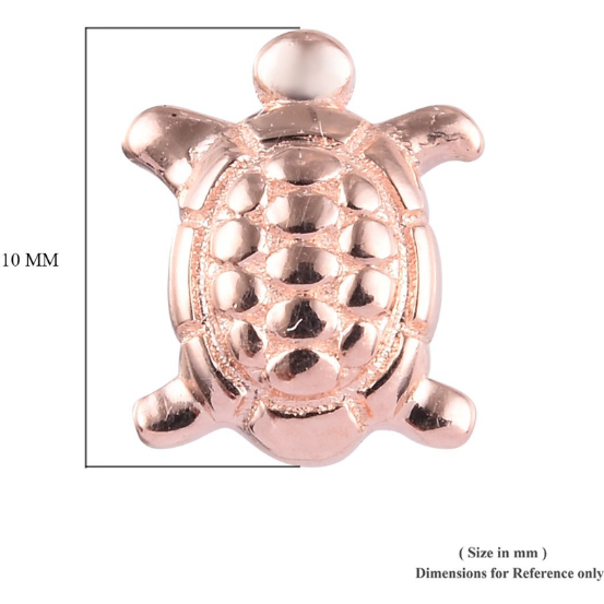 Turtle Stud Earrings in Vermeil Rose Gold over Sterling Silver Gemstone Collectors U.S.