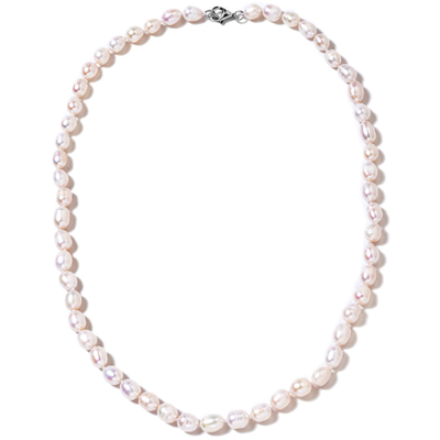 "White Freshwater 7-8mm Pearl Necklace 20"" in Sterling Silver Gemstone Collectors U.S."