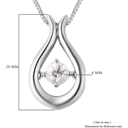 White Zircon Necklace in Platinum over Sterling Silver Gemstone Collectors U.S.