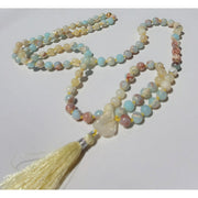 Yellow Opal, Aqua Terra Jasper and Citrine Mala Necklace Mindful Creations by Gloria