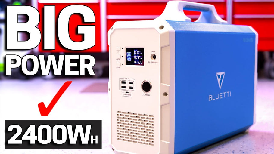 BIGGEST 2400Wh Power Station & Solar Generator - NEW Bluetti EB240 - Portable Backup Power - Honest Review