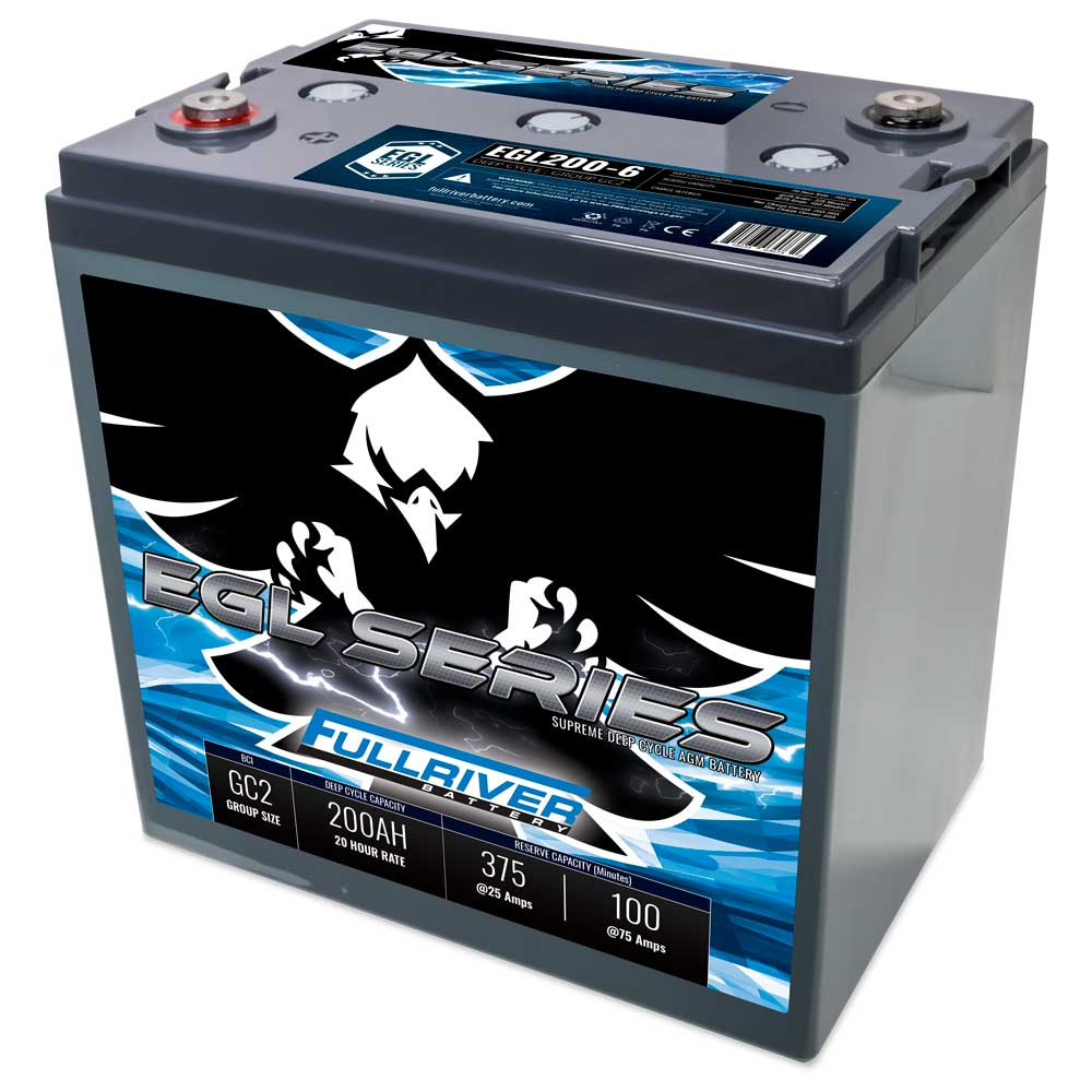 Fullriver EGL200-6 | Supreme Deep Cycle AGM Battery