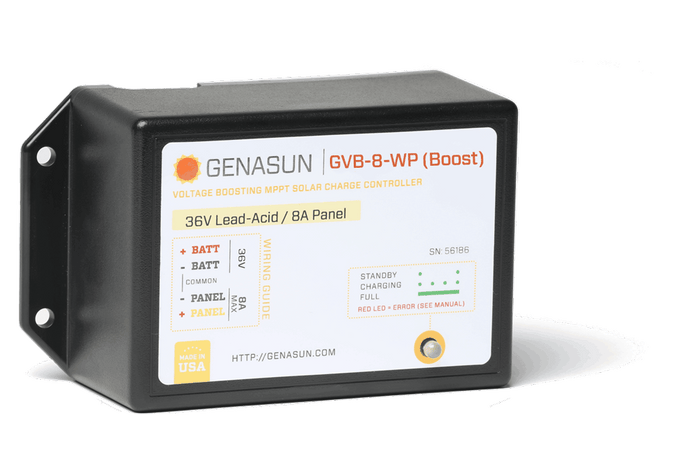 GVB-8-WP (Boost) | 105W/210W/325W/350W | Solar charge controller with MPPT