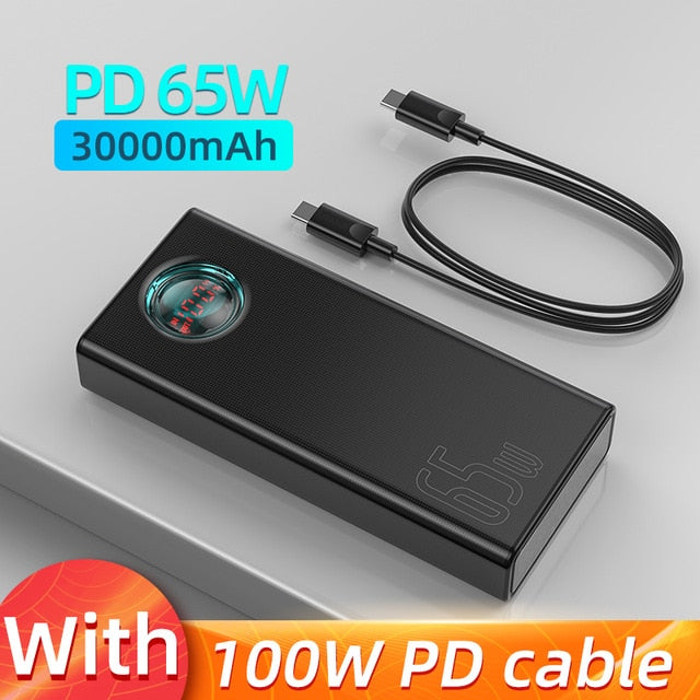 Baseus 65W Power Bank 30000mAh PD Quick Charging