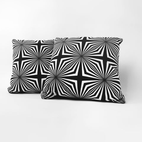Dalek Black & White pillow