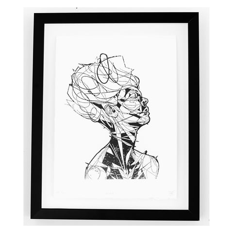 "Jason Thielke ""Jewel (Block Print)"" Framed"