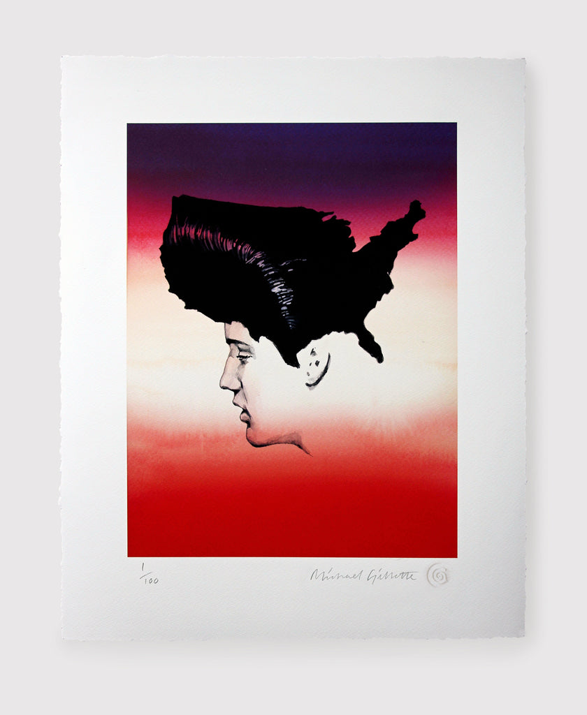 Elvis Presley America USA King Map King of Rock n roll Art Print