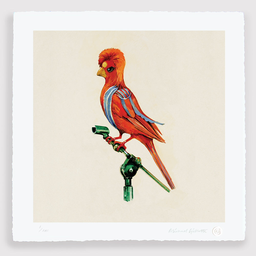 David Bowie Ziggy Stardust Bird Print