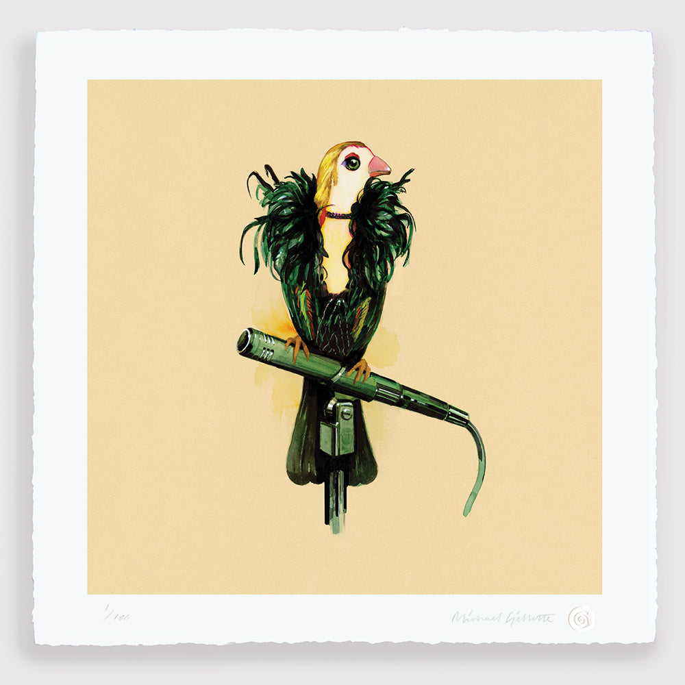 Brian Eno Bird art Print Roxy Music