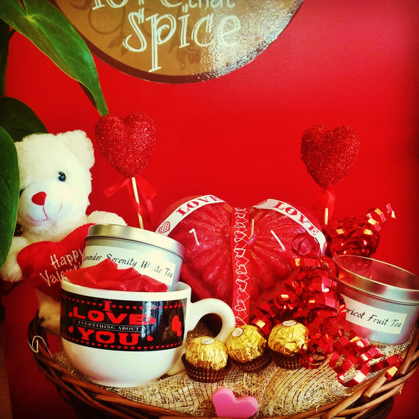 Valentine's Day Exotic Tea Gift Basket