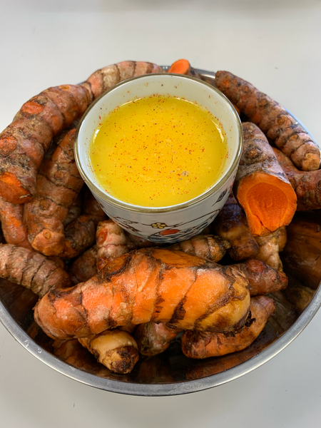 1 Turmeric Ginger Wellness Shot with Indian Masala Tea Chaser