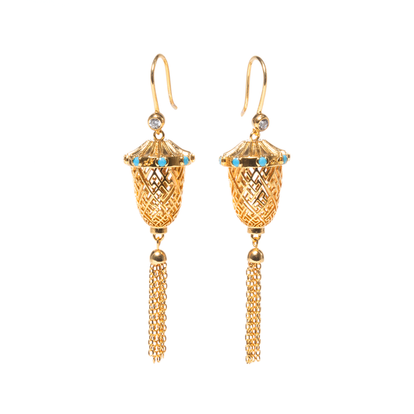 Lantern Joy Earrings — Gold/Silver
