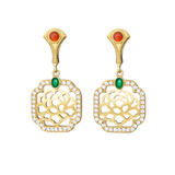 Tang Flower Dangle Earrings