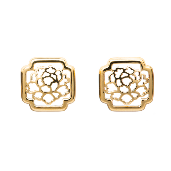 Tang Flower Stud Earrings
