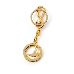 Signature Bag Charm and Key Holder — Gold/Silver