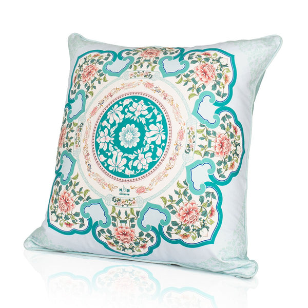 Courtyard Elegance Cushion Cover - Blue