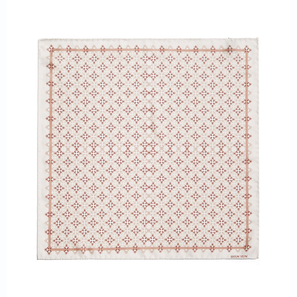 A Manchurian Stroke of Luck Pocket Square - Beige