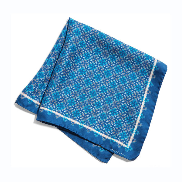 A Manchurian Stroke of Luck Pocket Square - Navy