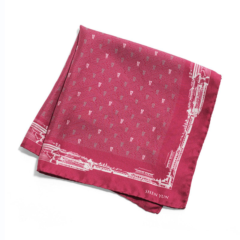 Spirit of the Han Dynasty Pocket Square - Maroon