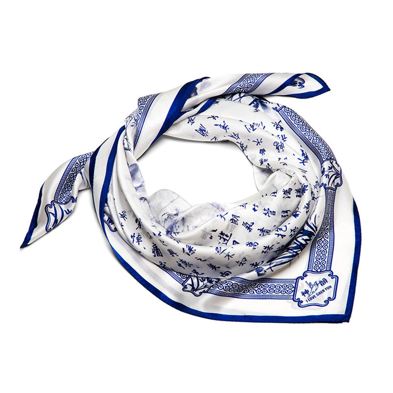 Poets of the Orchid Pavilion - Silk Scarf