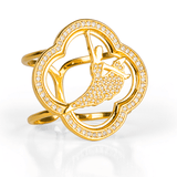 Signature Scarf Ring - Gold