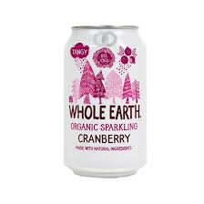 Refresco ecológico de arándanos Whole Earth