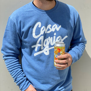 Basic Crewneck Sweatshirt - Heather Bay Blue