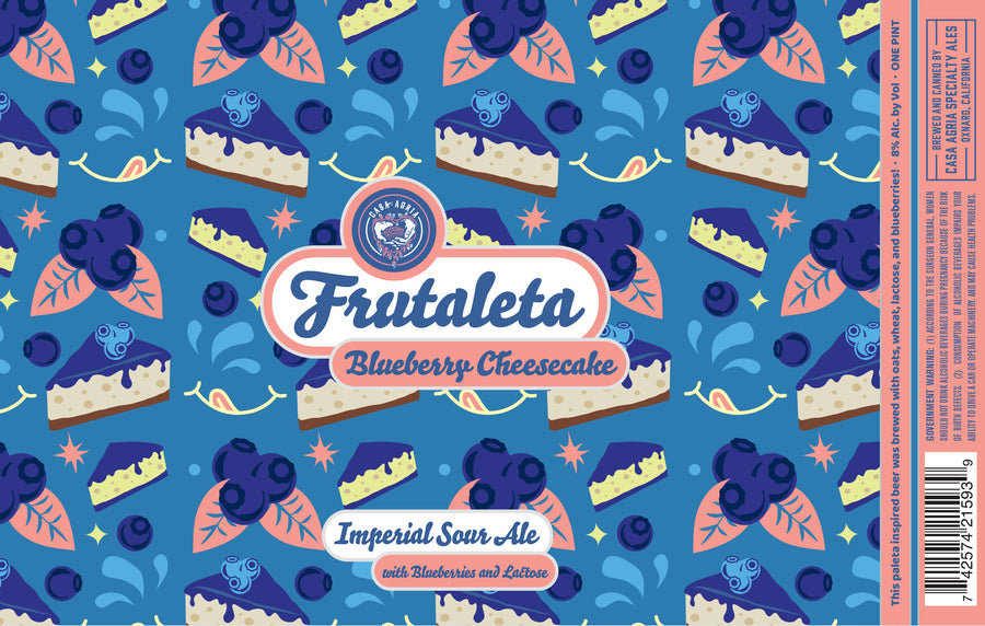 Blueberry Cheesecake Frutaleta Sour Ale : 4-Pack