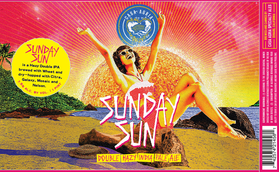 Sunday Sun Hazy Double IPA: 4-Pack
