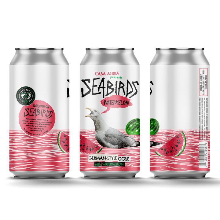 Watermelon Seabirds Gose Style Ale: 4-Pack