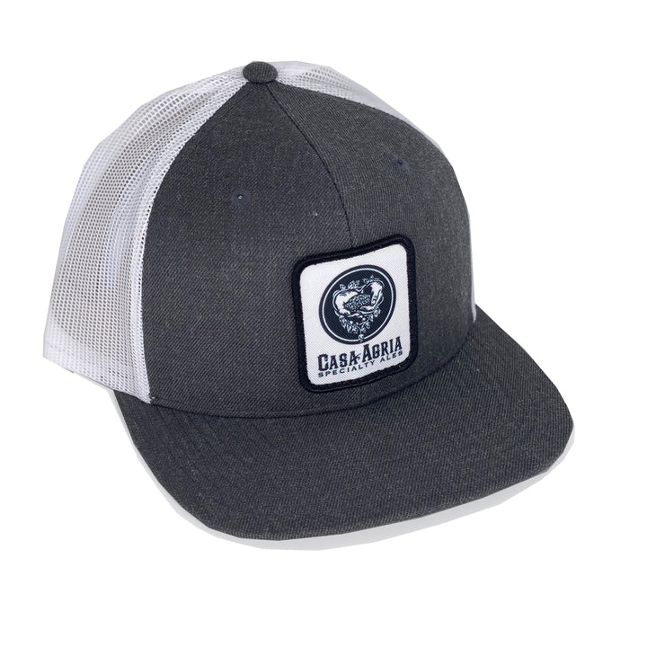 Classic Patch Hat: Heather Grey & White